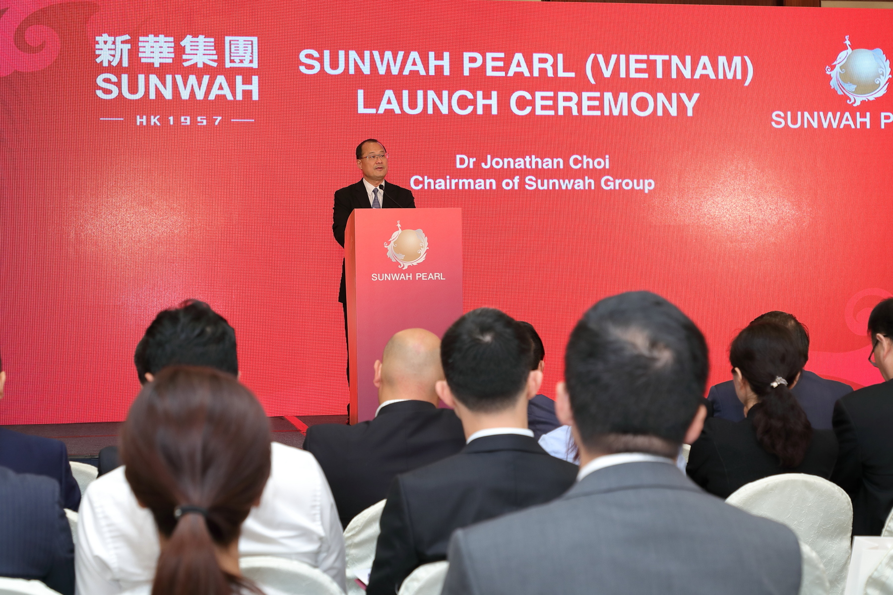 Dr Jonathan Choi delivered Opening Speech at Sunwah Pearl Project Launch Ceremony in Hong Kong