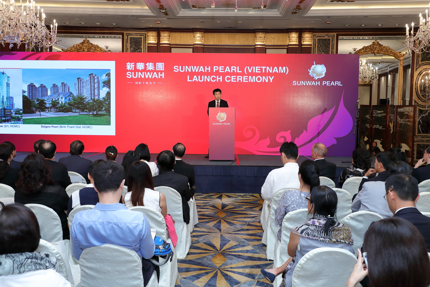 Mr Johnson Choi delivered speech at Sunwah Pearl Project Launch Ceremony in Hong Kong